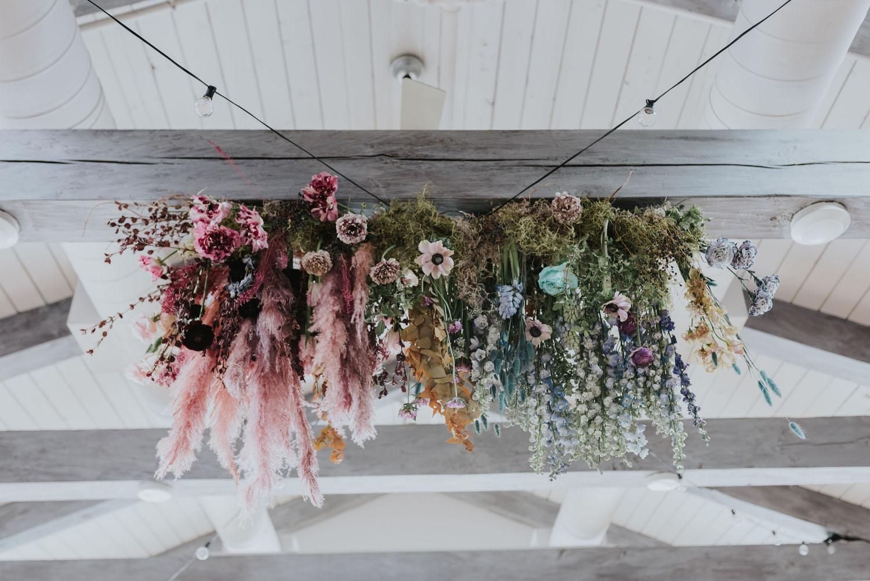 Pastel floral installation
