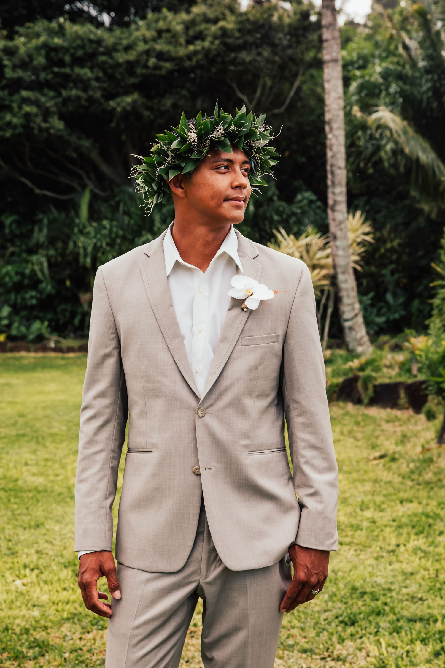 gray suit attire