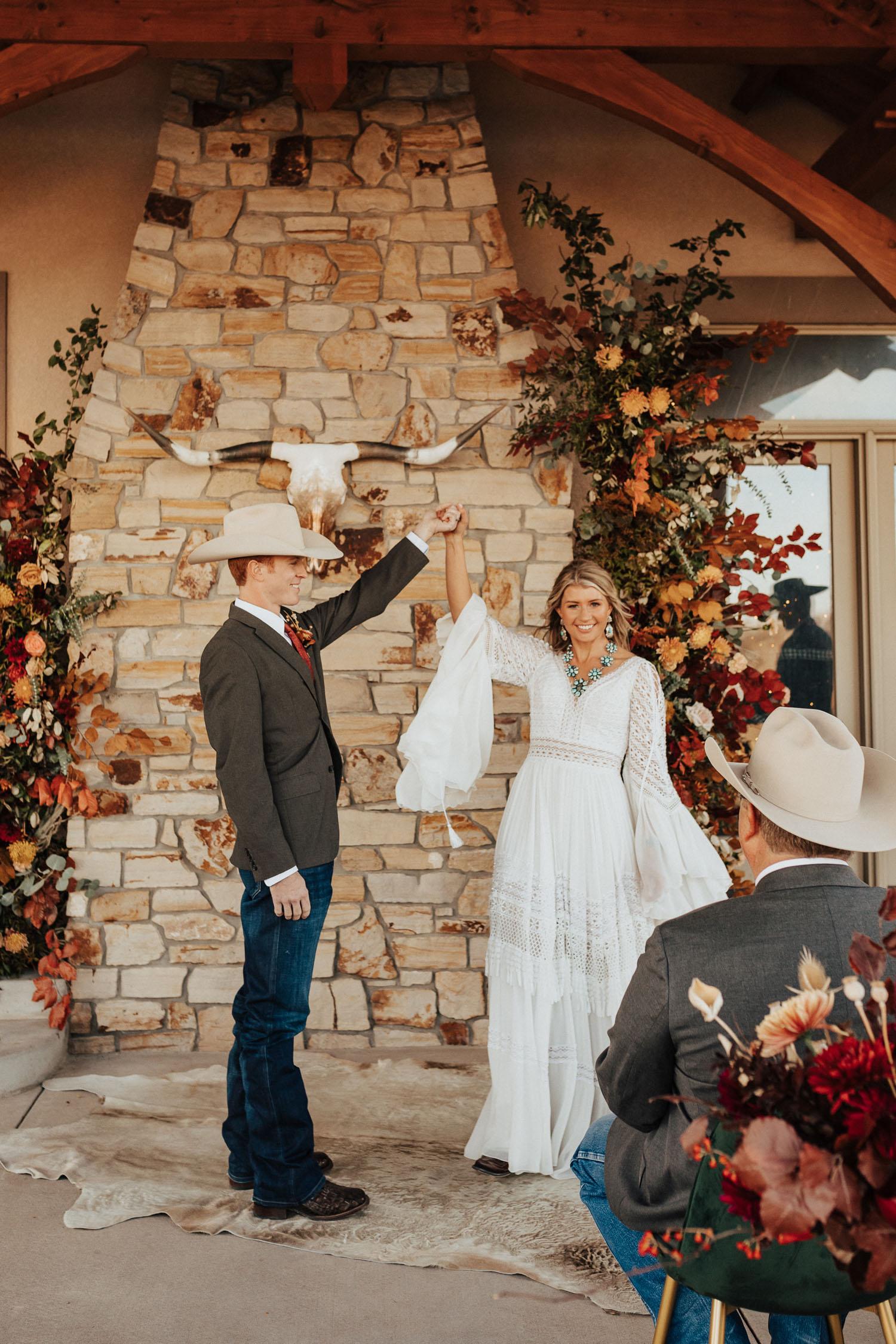 Colorado Cattle Ranch Micro Wedding Ceremony