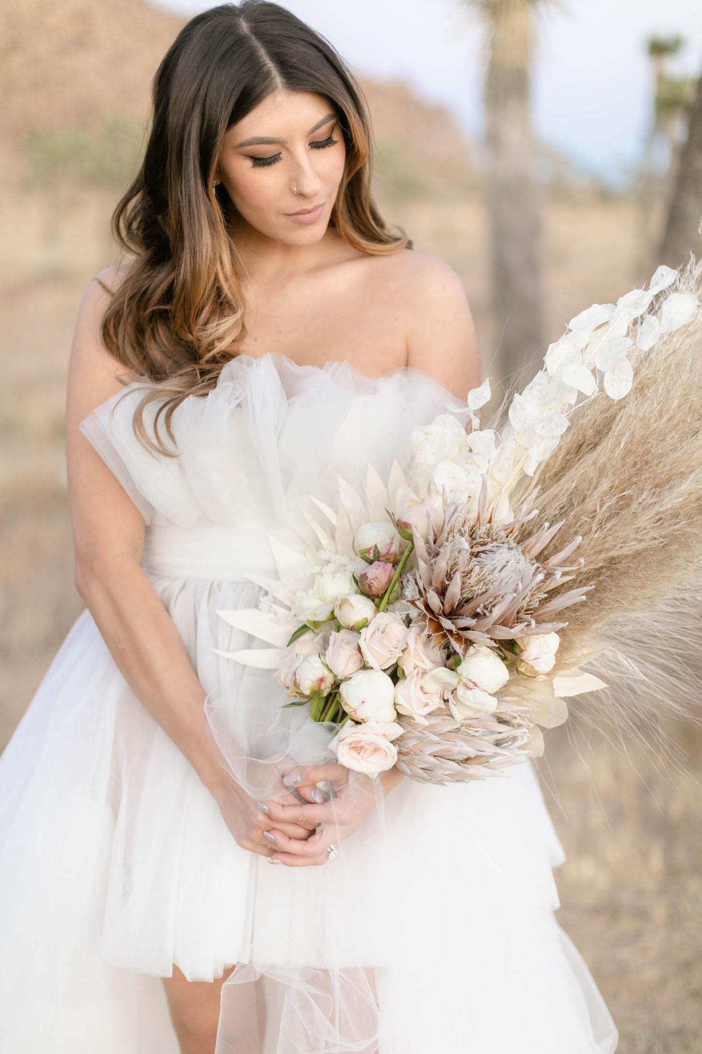 pampas grass protea bouquet