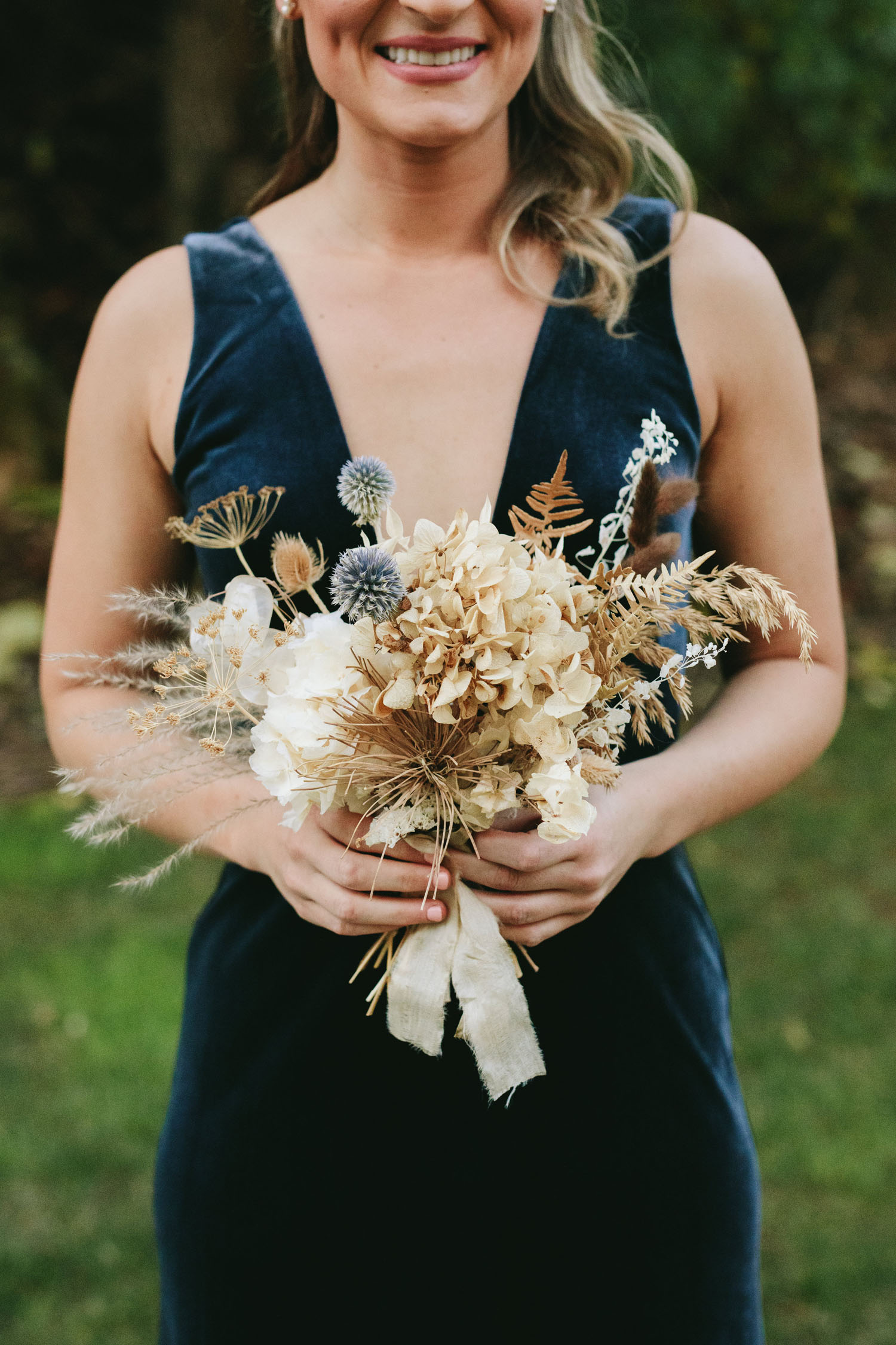 Dried Flower Wedding Party Bouquet
