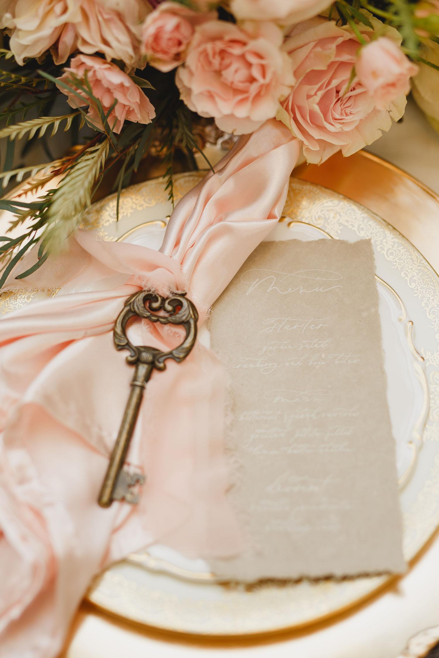vintage key plate setting