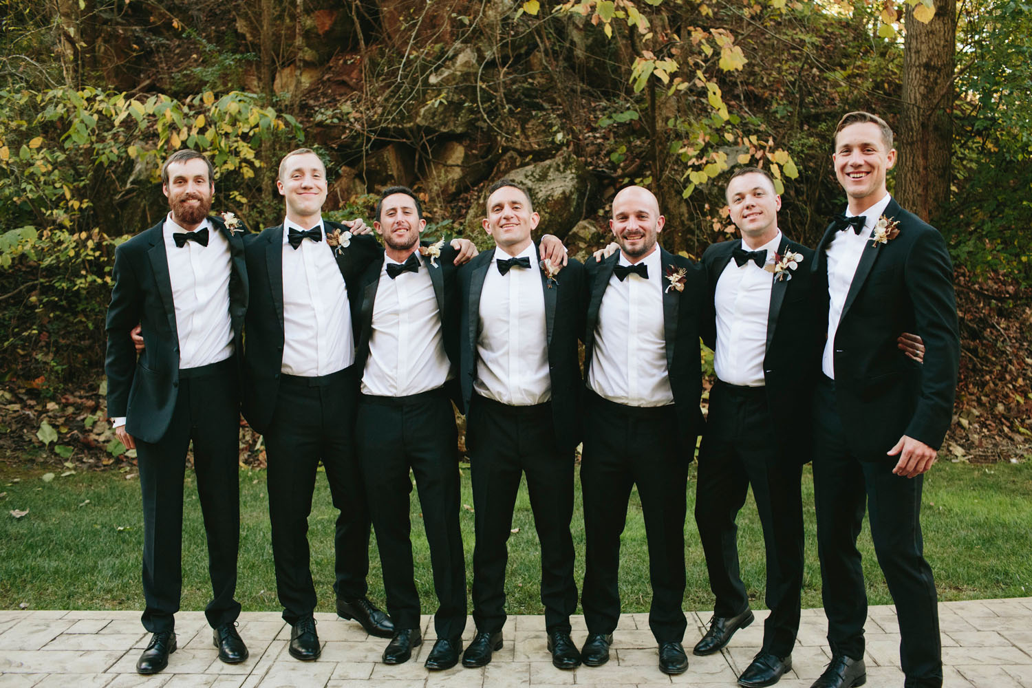 Black Tux Wedding Party
