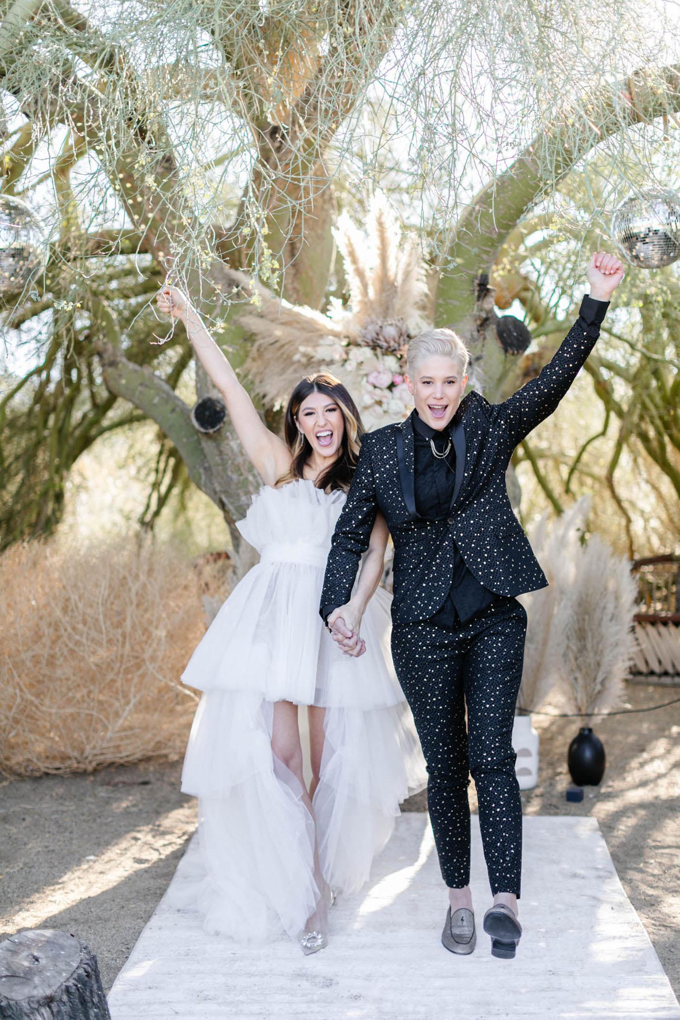 Fashion Forward Joshua Tree Micro Wedding