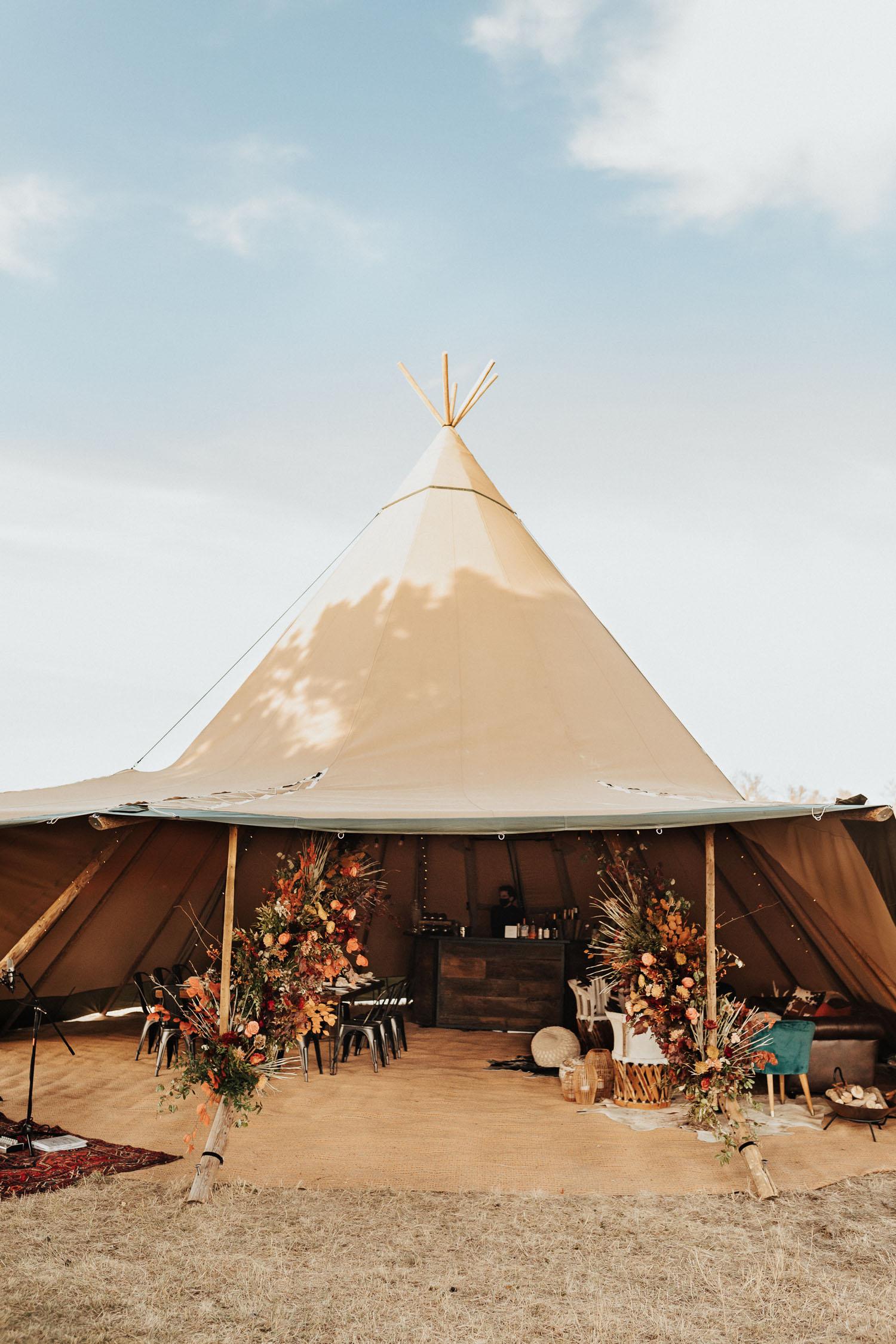 nordic tent wedding reception