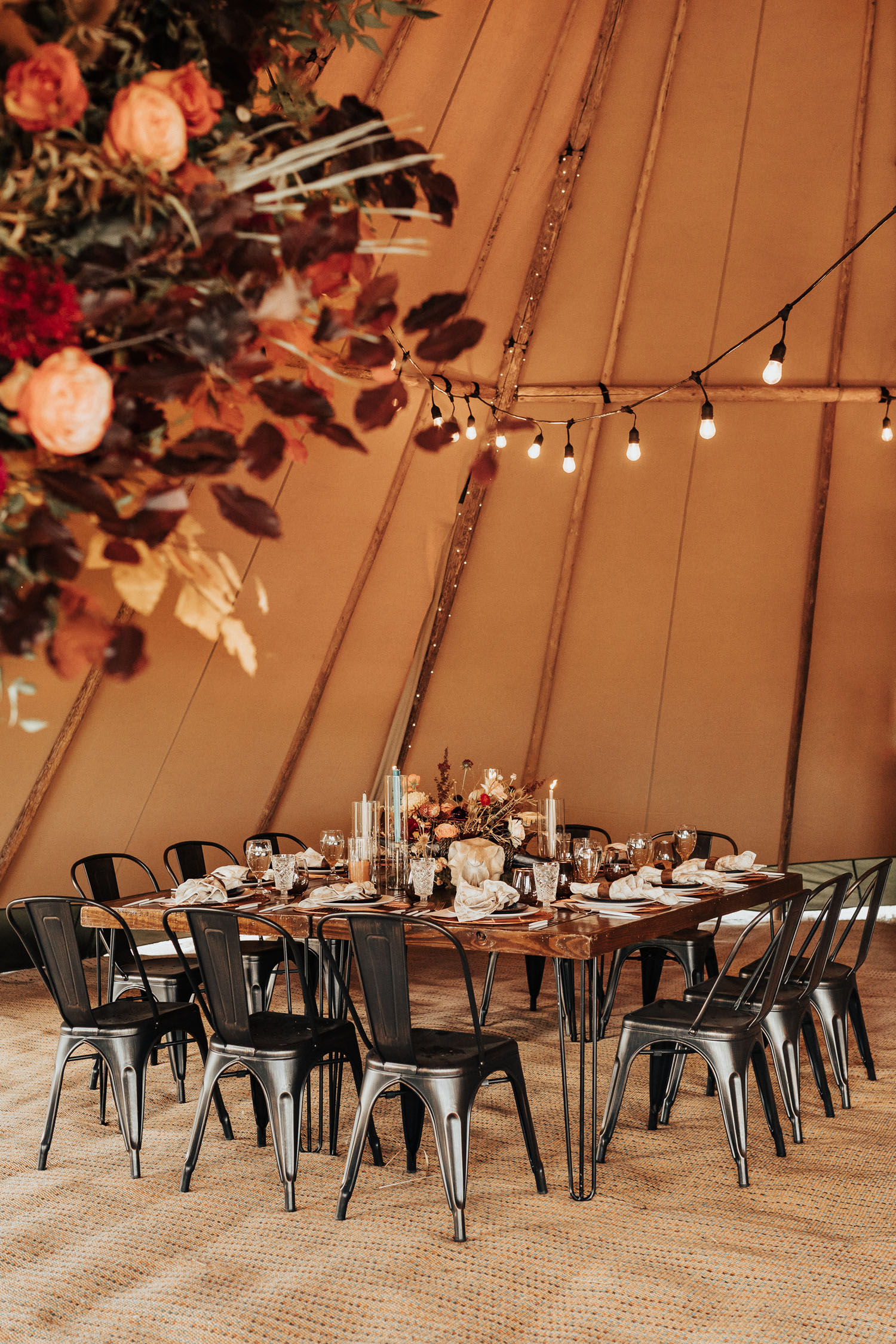 reception table for a microwedding