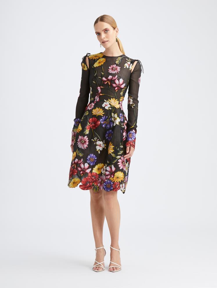 pressed flower dress