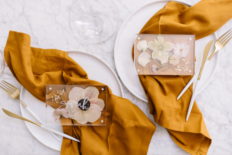 pressed flower wedding ideas