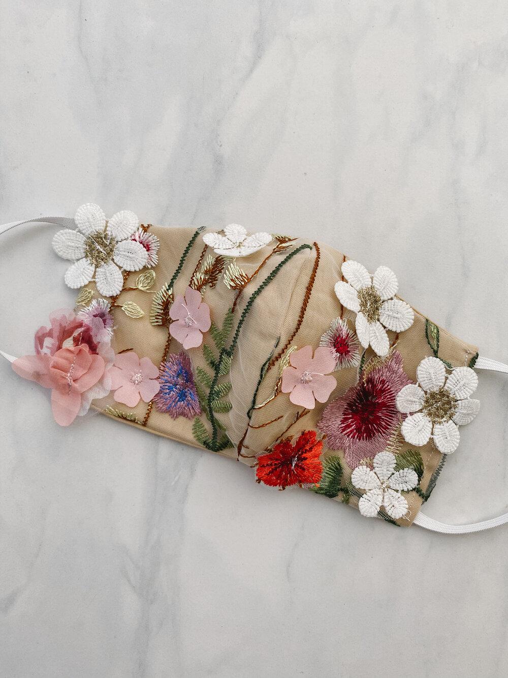 pressed flower mask