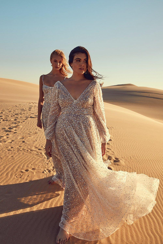 Kyah Chosen Harper Curve Sparkly Wedding Dress