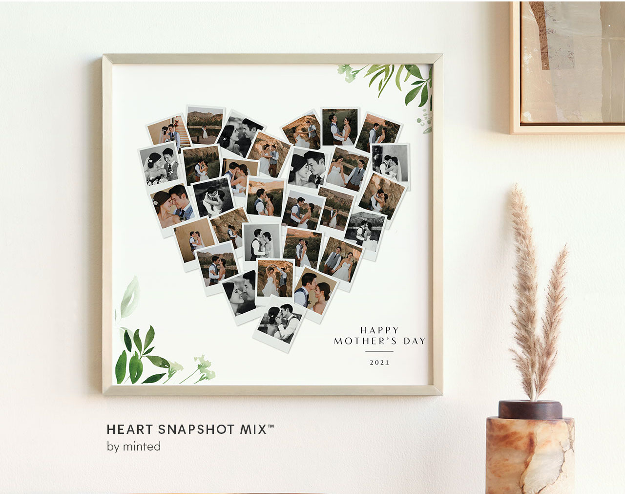 Mother's Day Heart Photo Collage