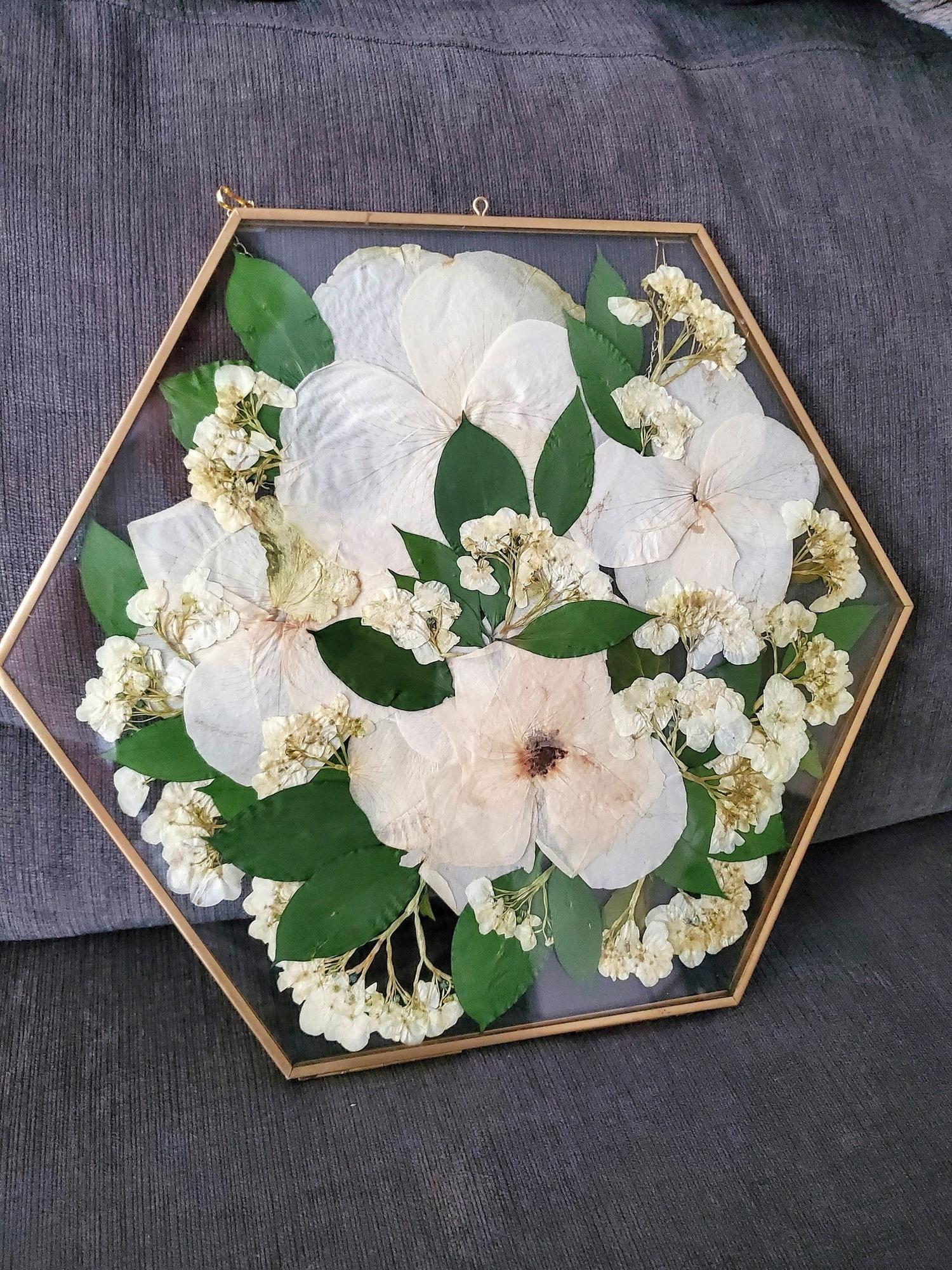 bridal bouquet pressed flowers