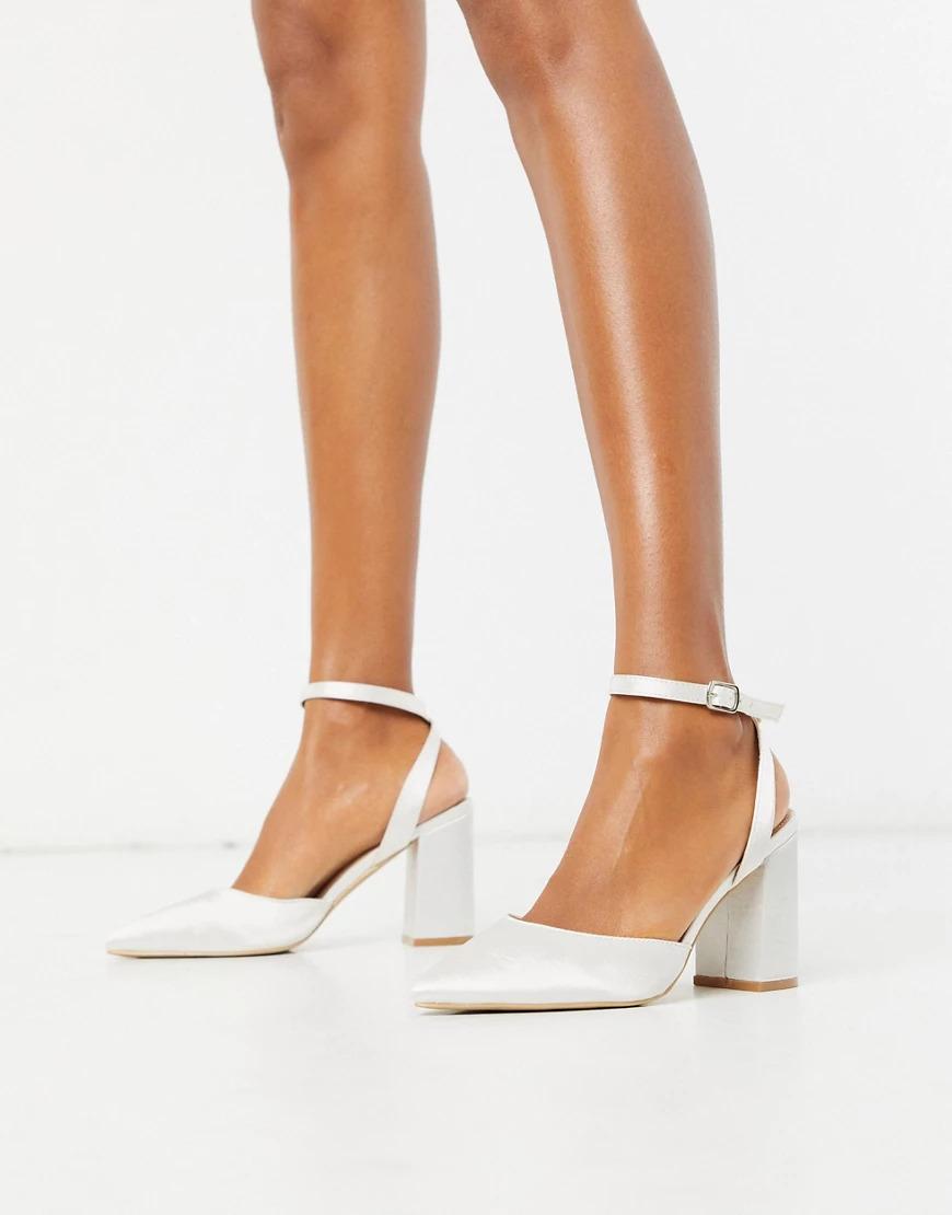 asos ivory satin wedding heels