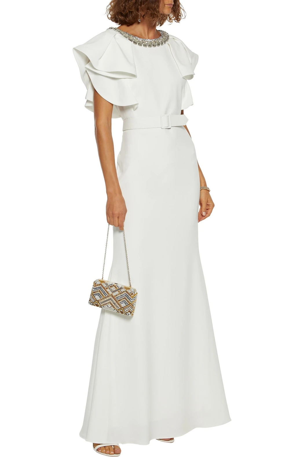 badgley mischka embellished wedding dress
