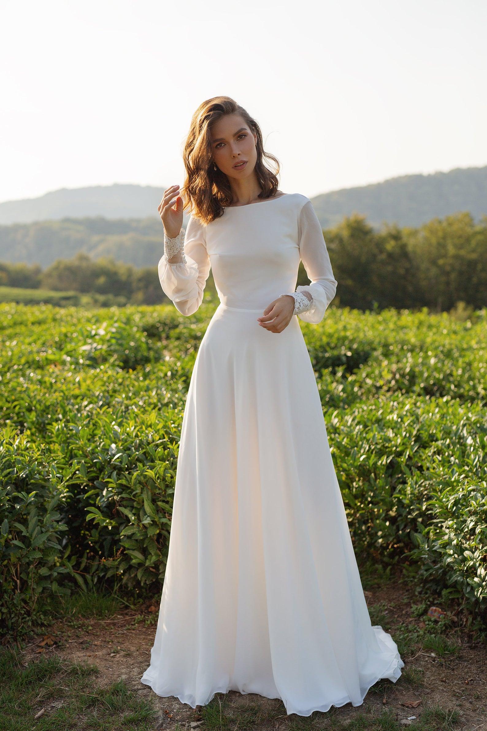 minimal Etsy wedding dress