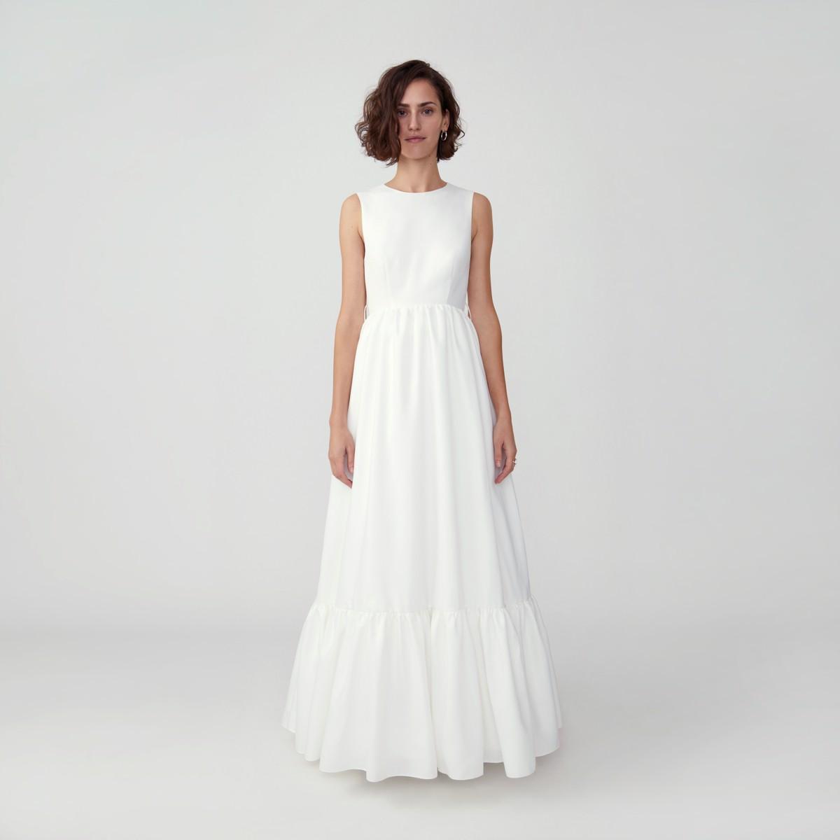 fame and partners custom wedding dress