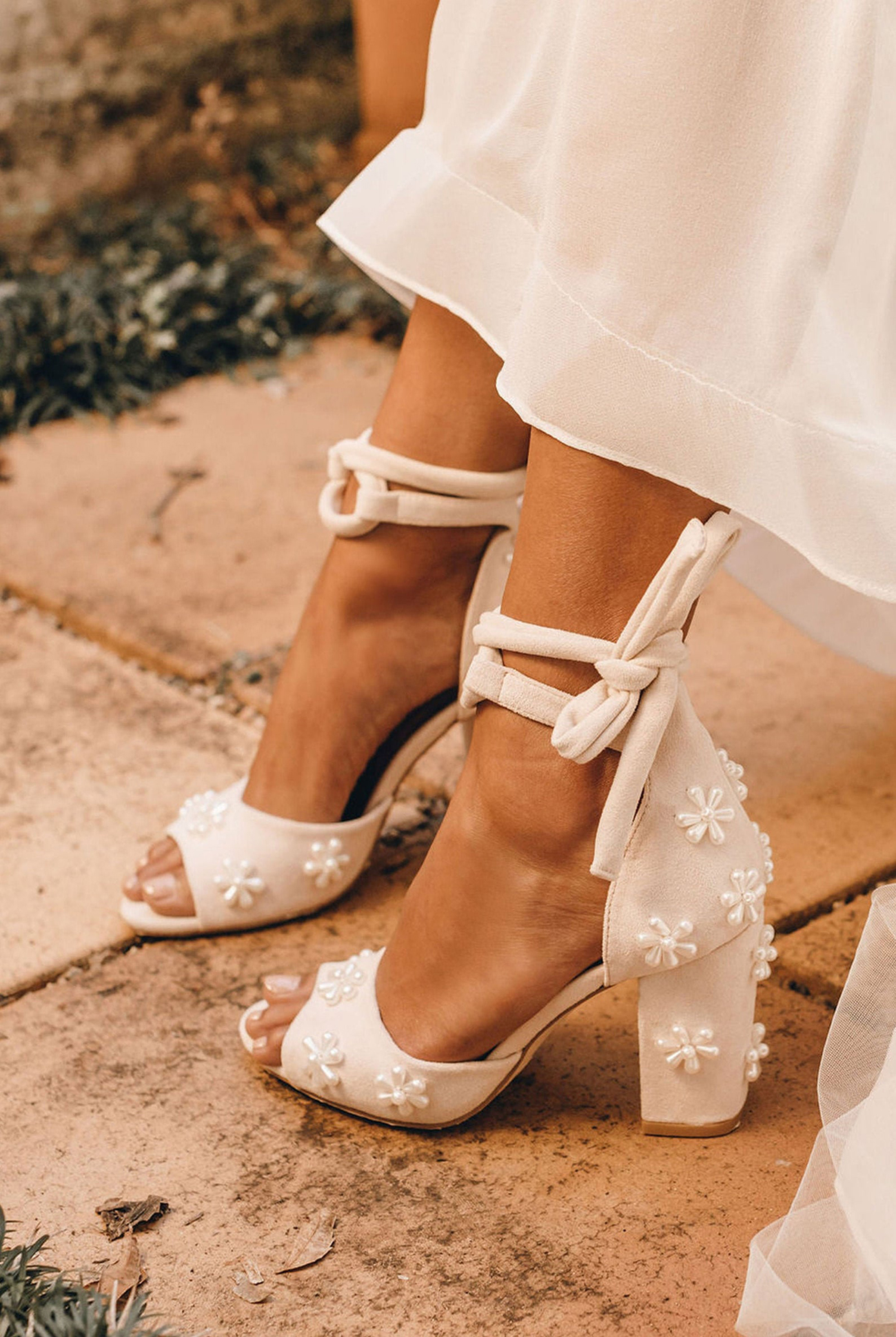 forever soles beaded floral wedding shoes