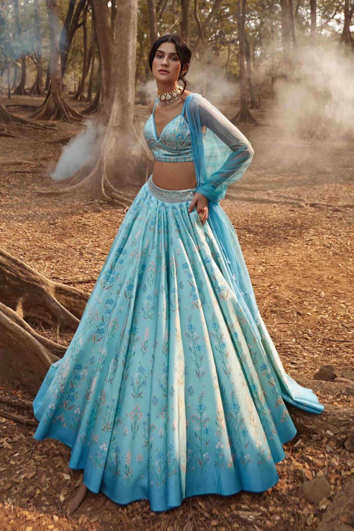 Anita Dongre ice blue wedding dress