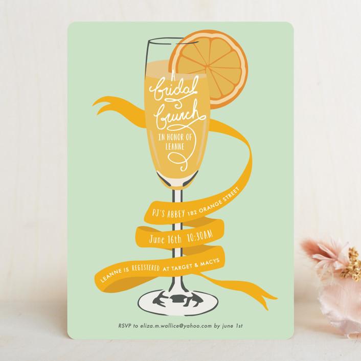 cute bridal brunch invitation