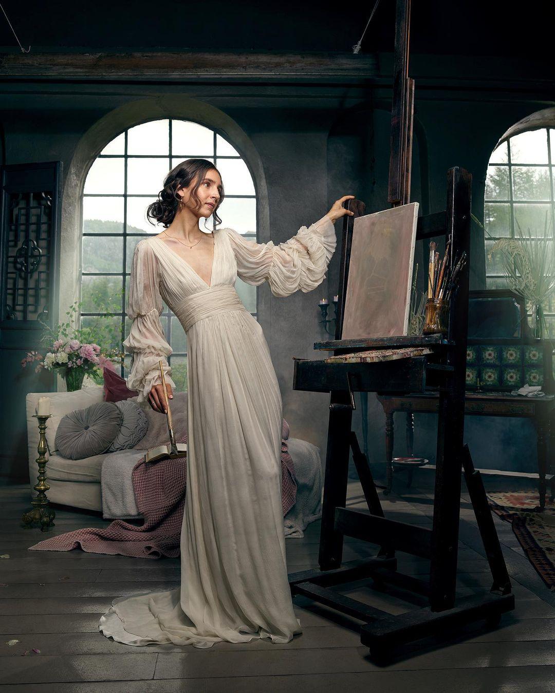 leila luxury sustainable wedding dress