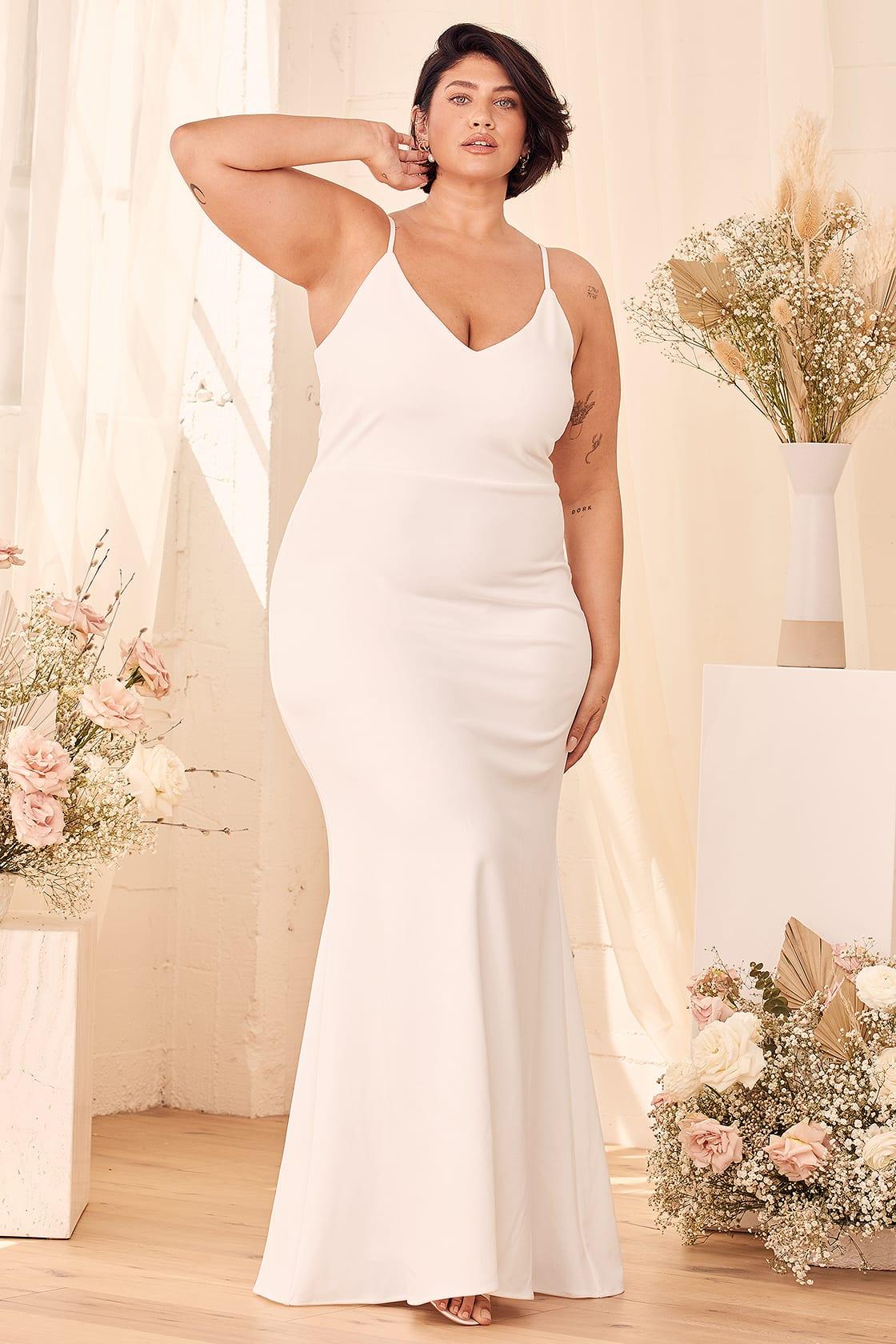 lulus sexy wedding dress