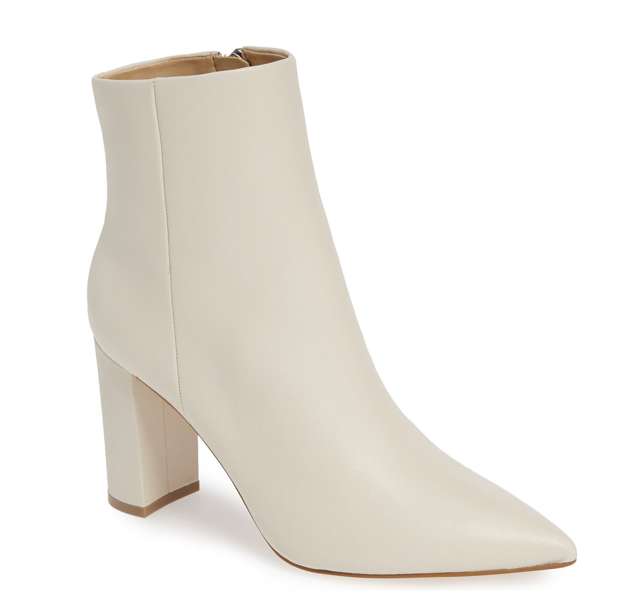 best white bridal booties