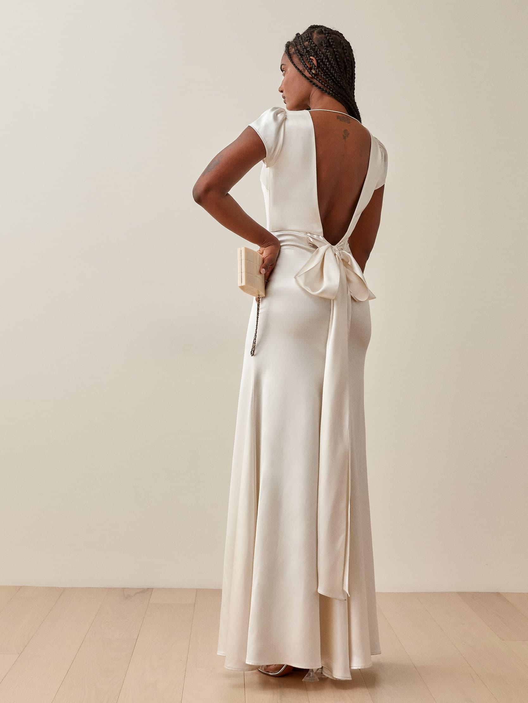 reformation geranium wedding dress