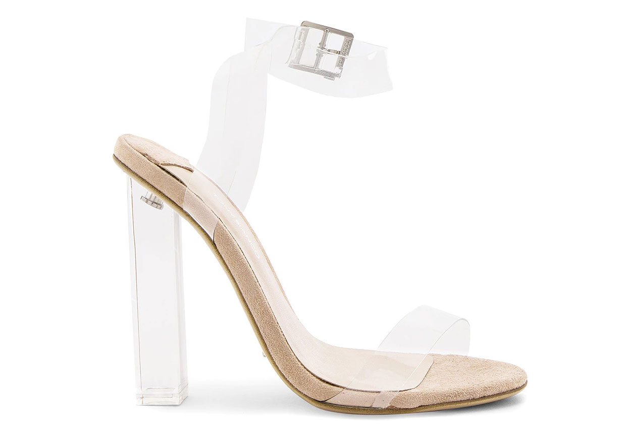 revolve clear wedding heels