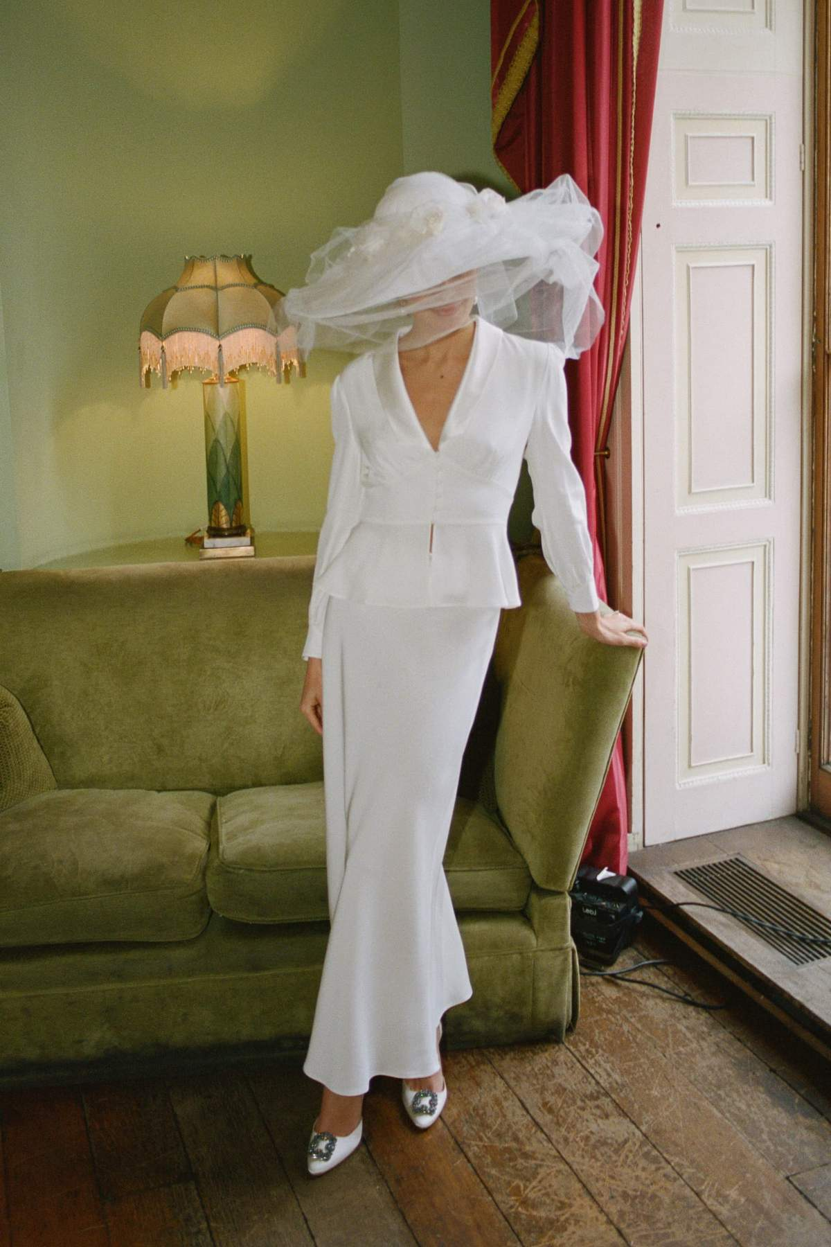 rixo joan satin bridal skirt