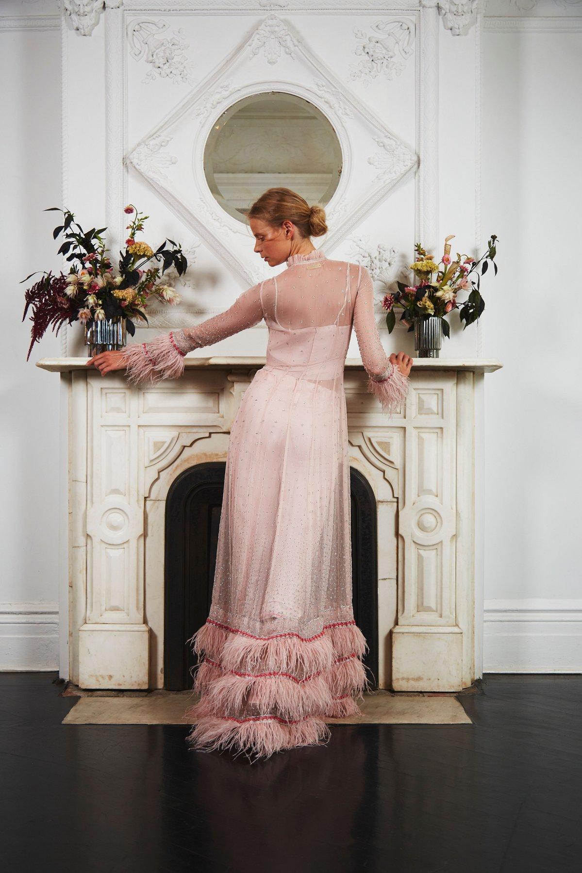 sahroo lotus pink wedding dress