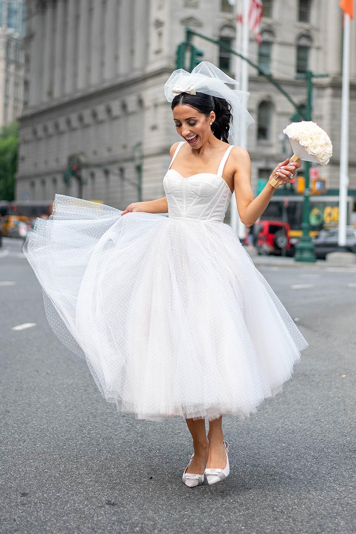 watters short wedding dress