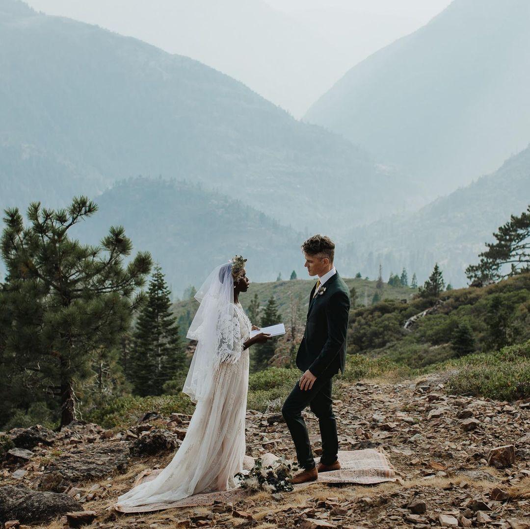 wedding vows on mountain top