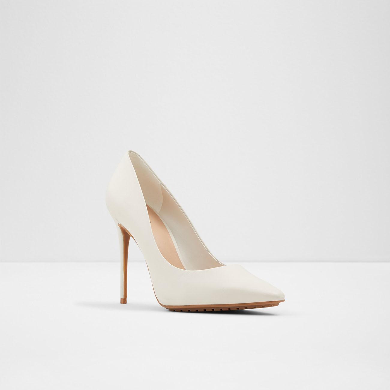 white pump bridal heel aldo