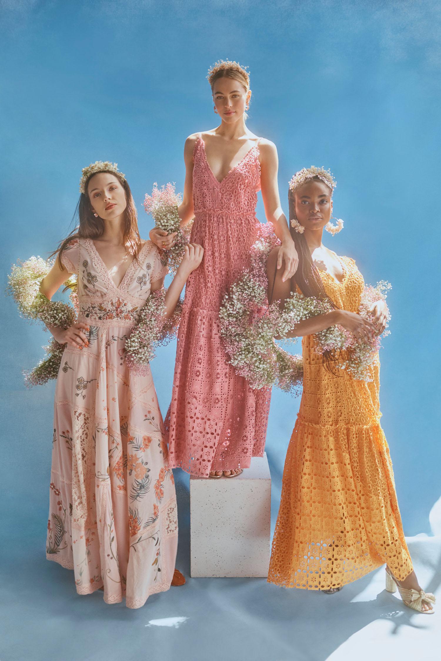 BHLDN x Free People boho bridesmaids dresses