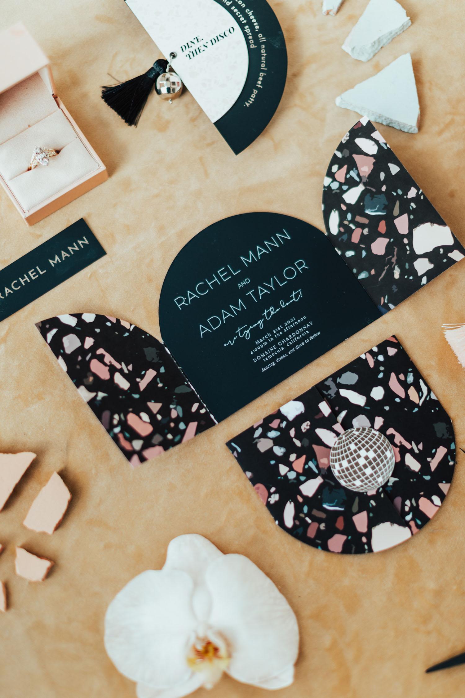 Terrazzo Wedding Invitation