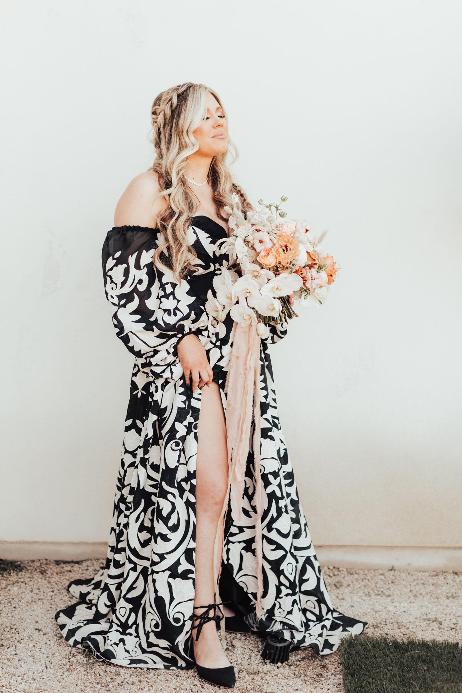 black and white wedding dress rue de seine