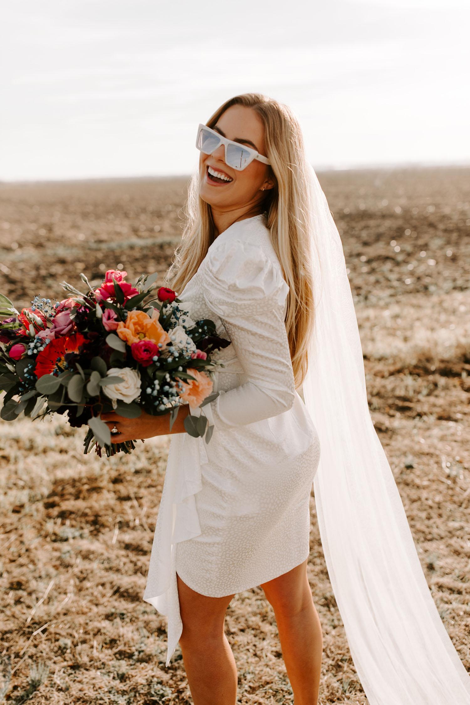 sunglasses wedding attire