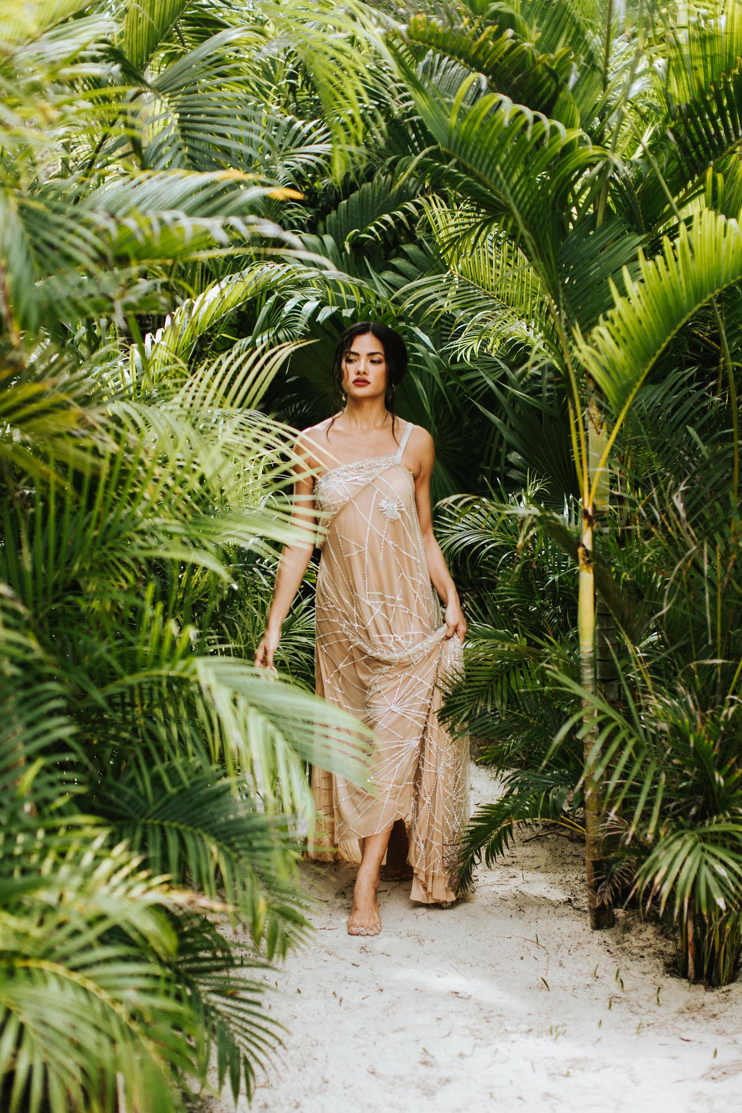 beach wedding dress tulum
