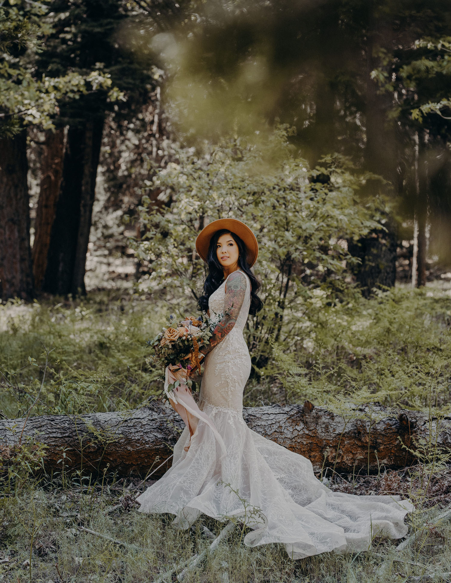Boho Bride with Hat