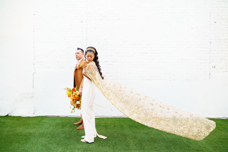 Gold Floral Wedding Cape