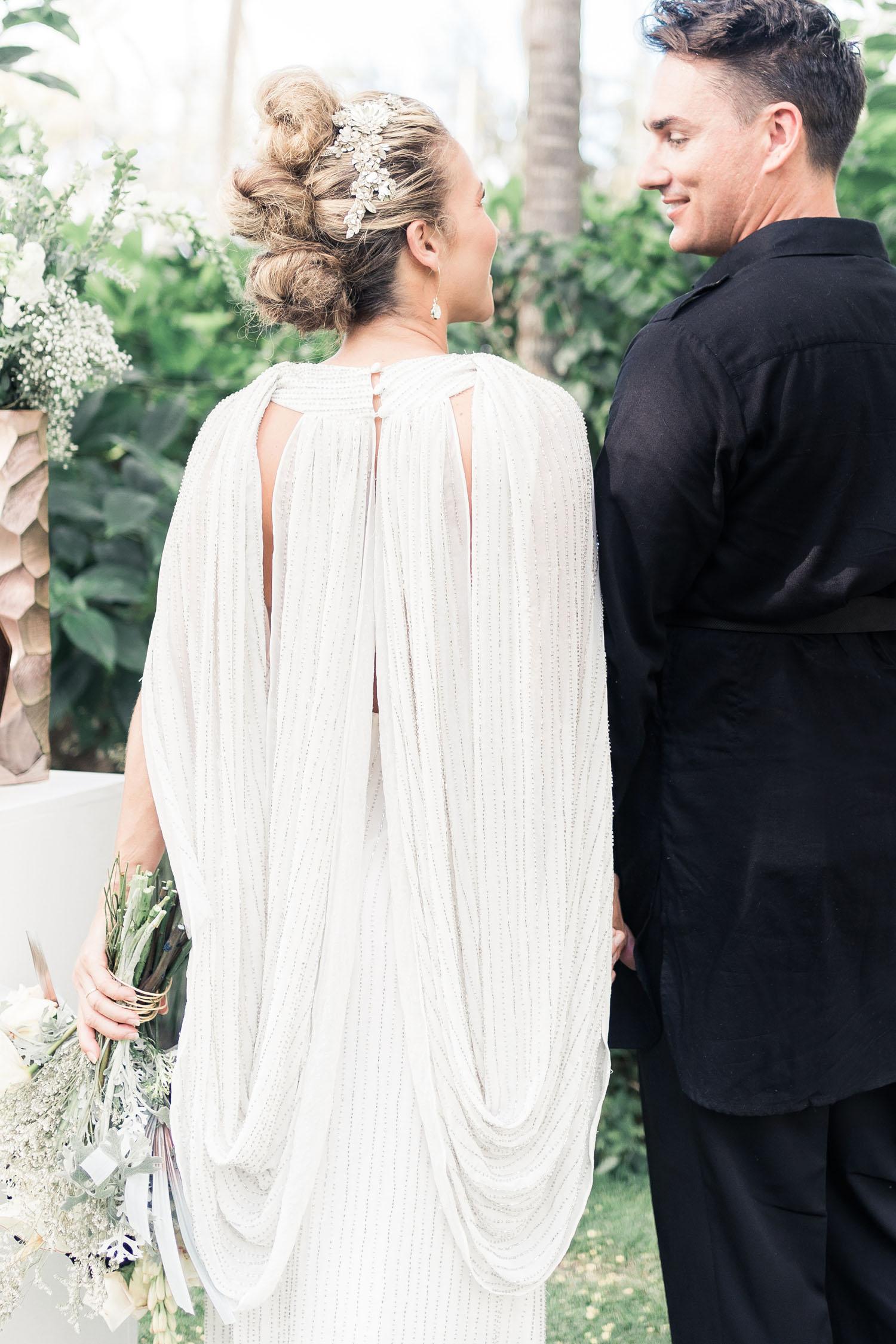 Star Wars wedding dress with cape