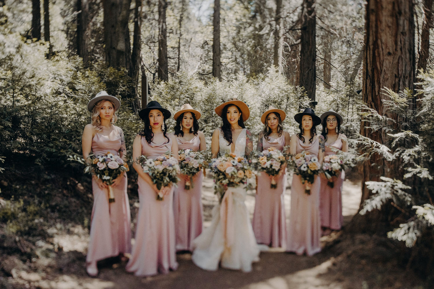 Bridesmaids with Hats