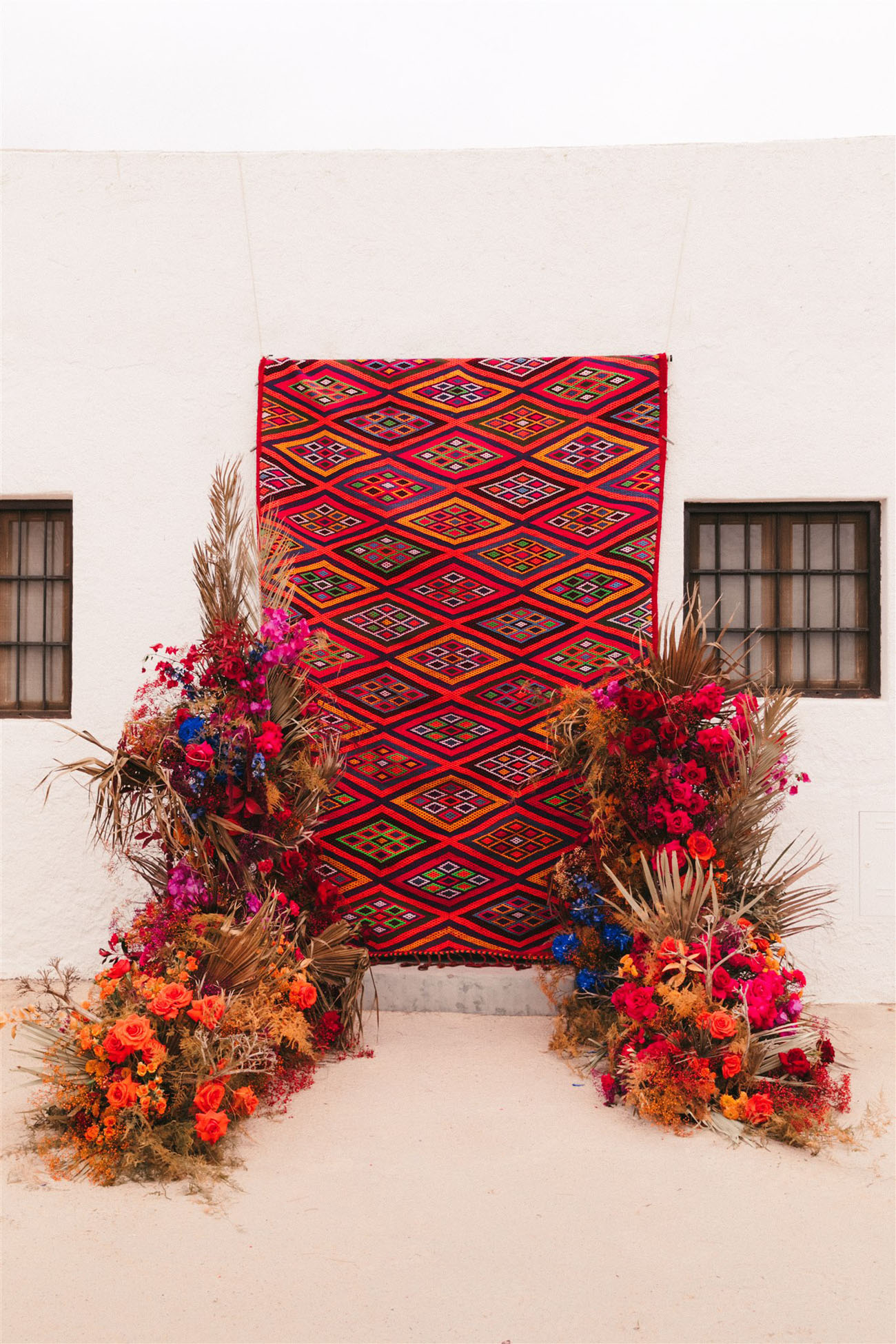 colorful tapestry backdrop