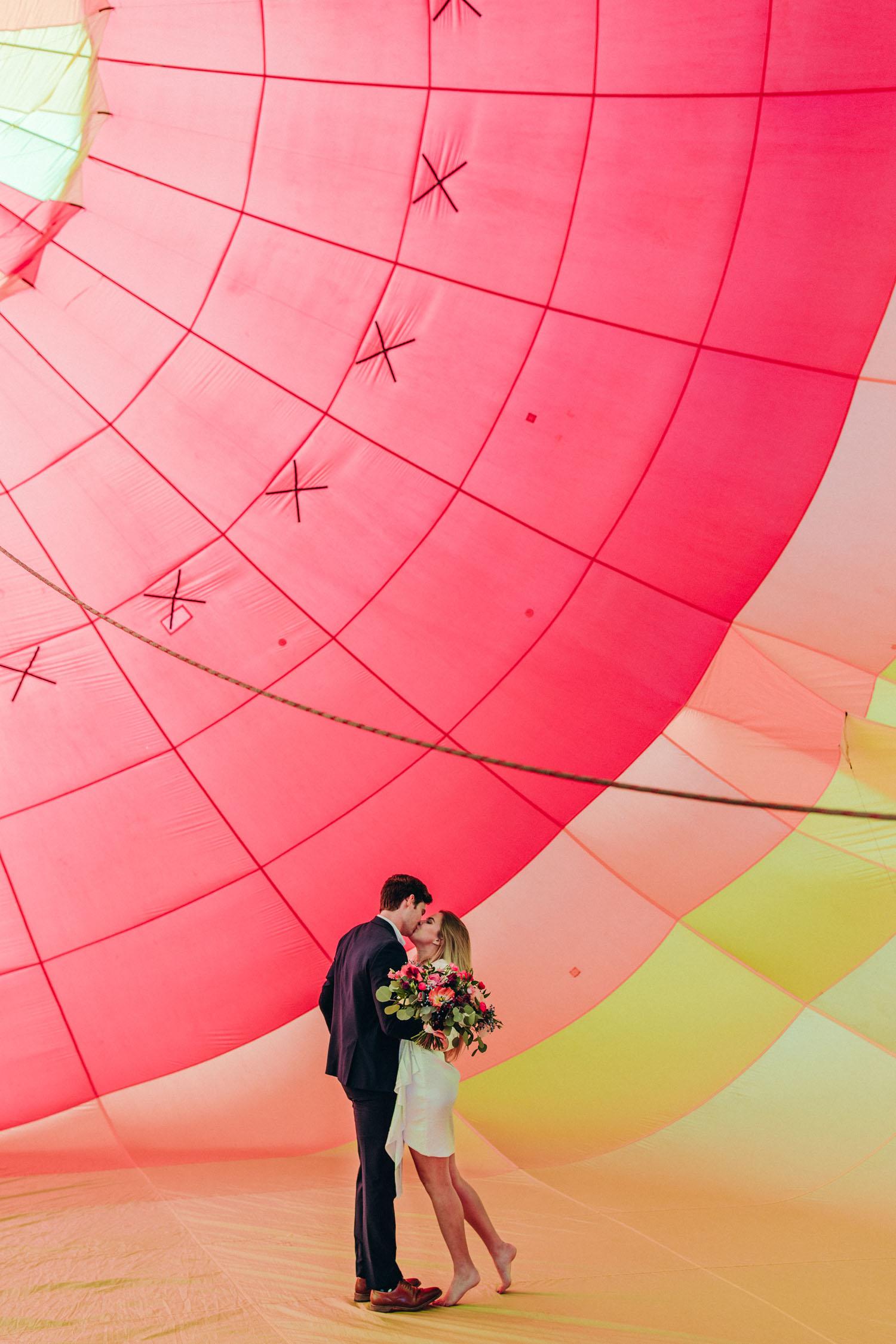 Hot Air Balloon Styled Elopement