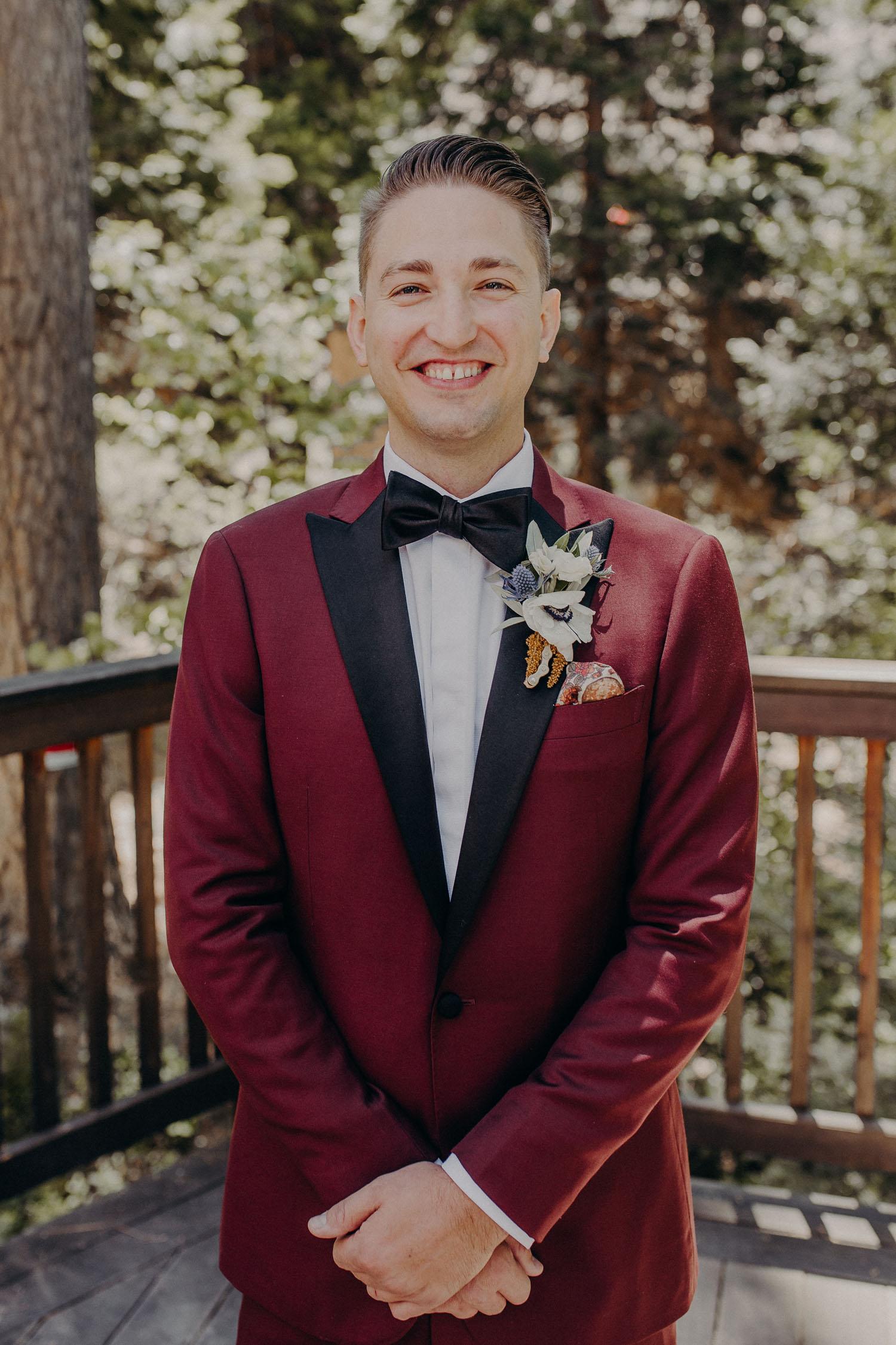 Red Suit Wedding Attire
