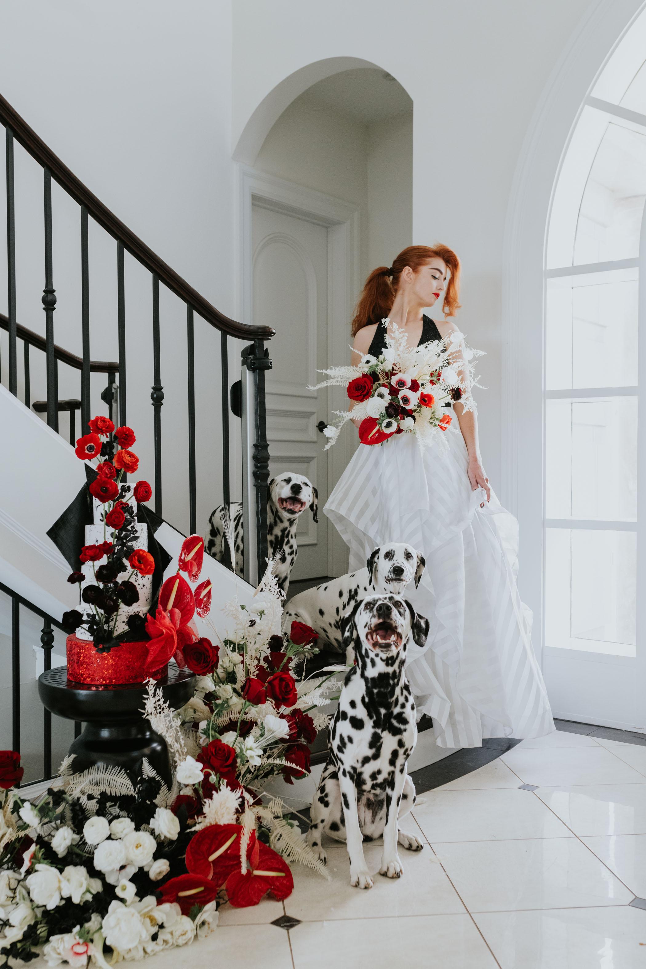 Cruella Disney Villain Wedding Inspiration