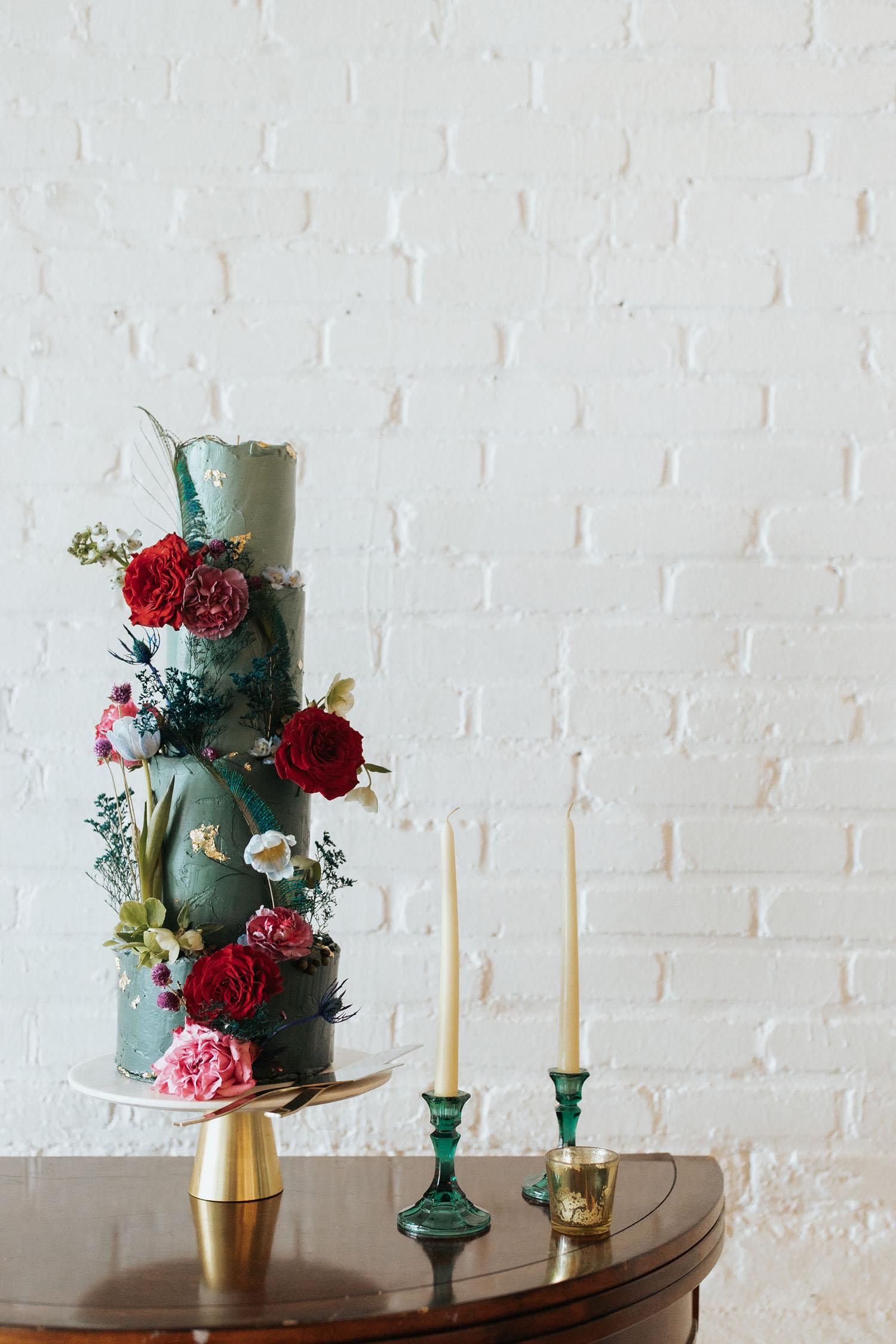 Real Flower Wedding Cake