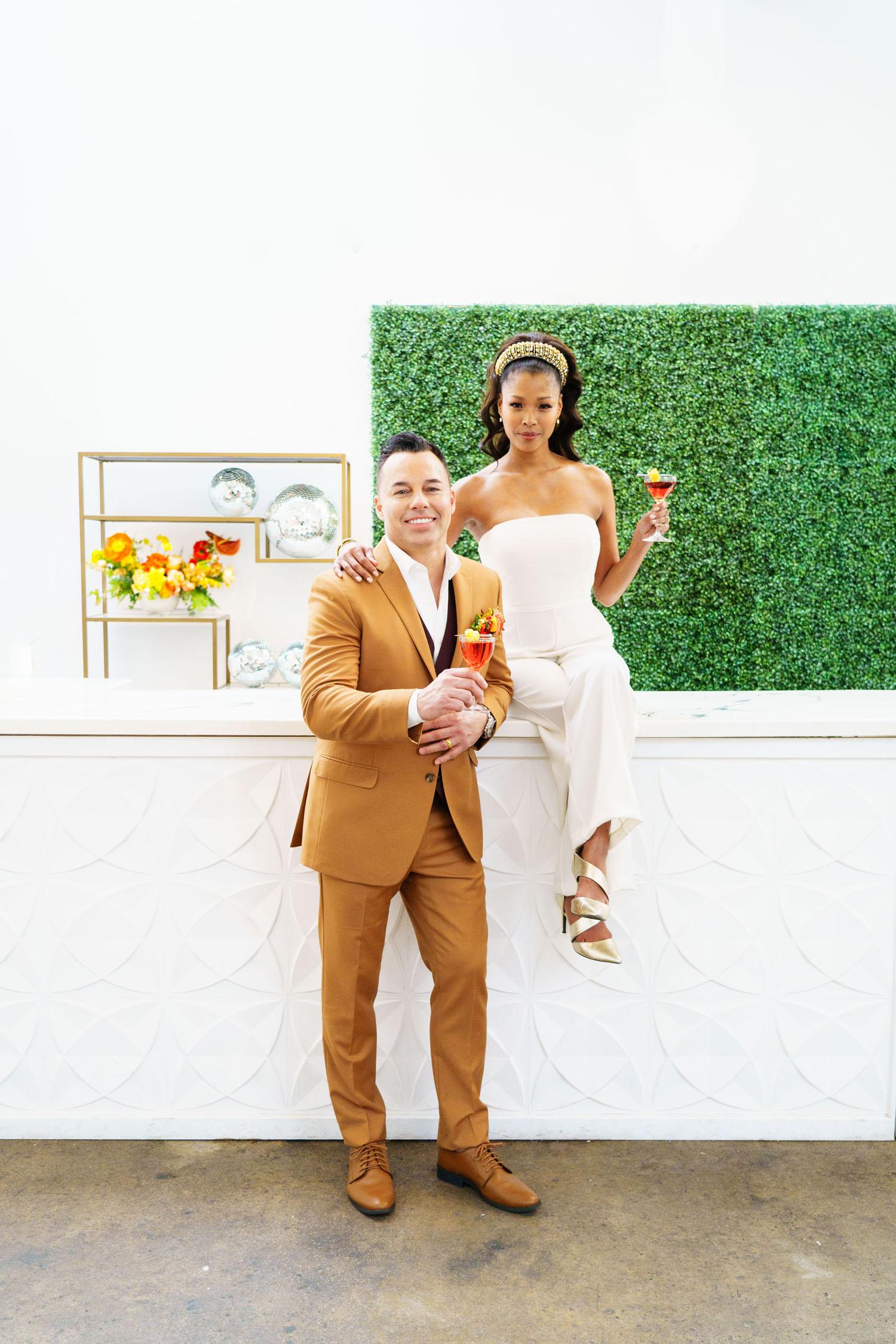 Colorful Disco Wedding Inspiration