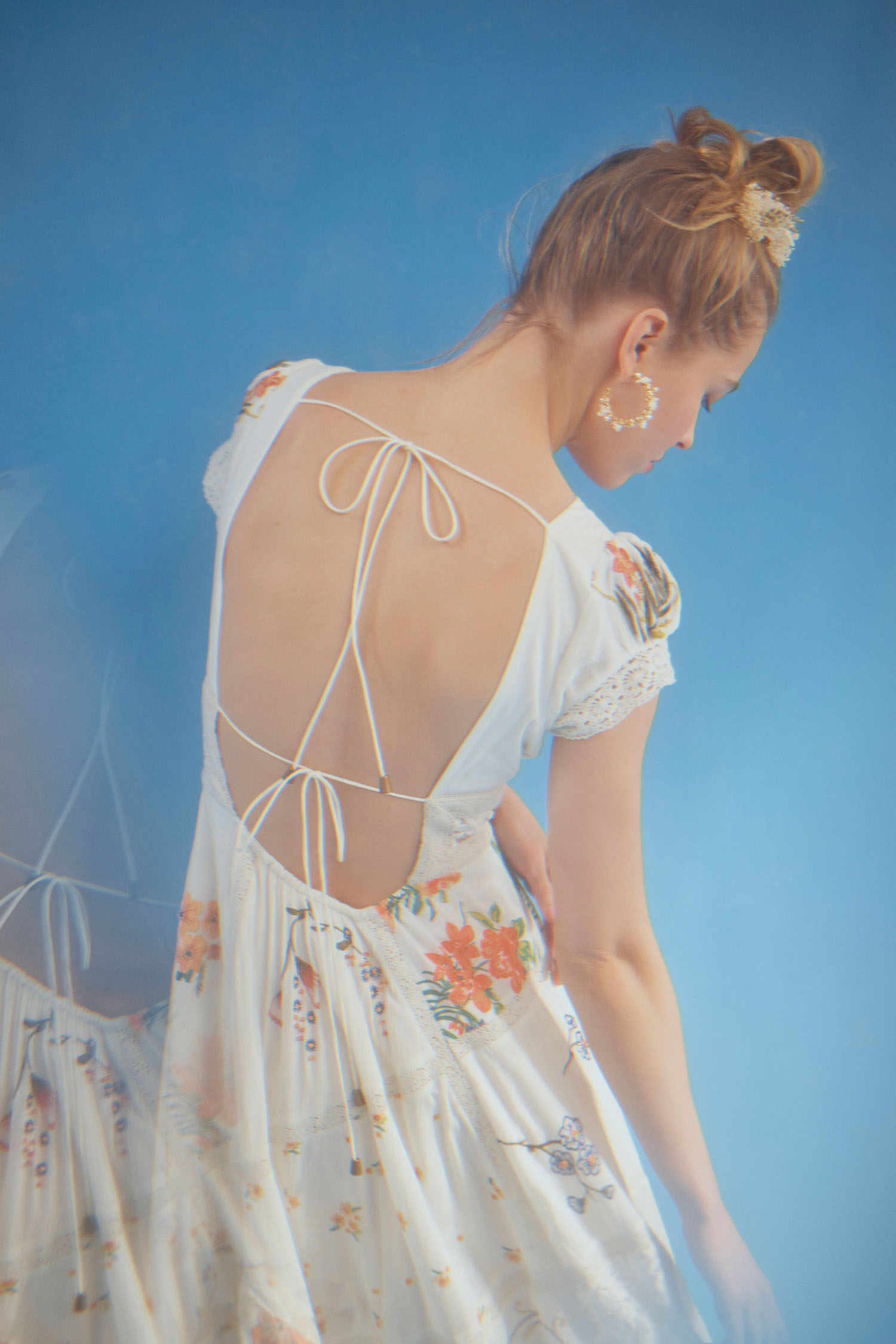open back floral bridesmaids dress from BHLDN x Free People