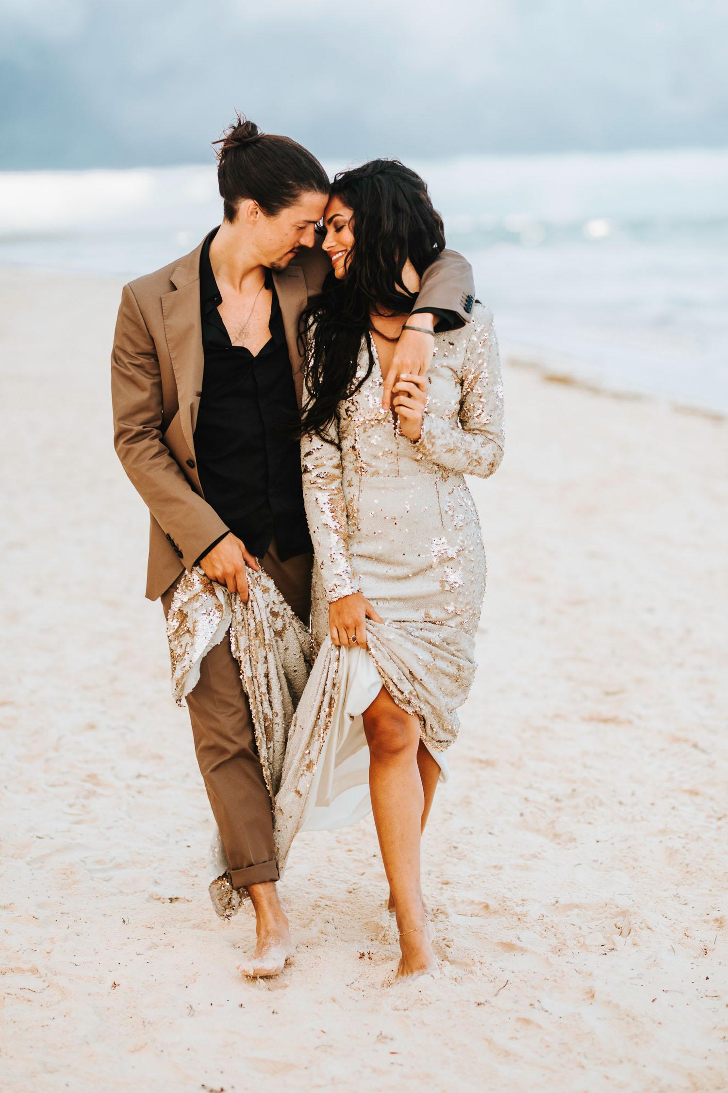 Celestial Wedding Inspiration on the Beach in Tulum